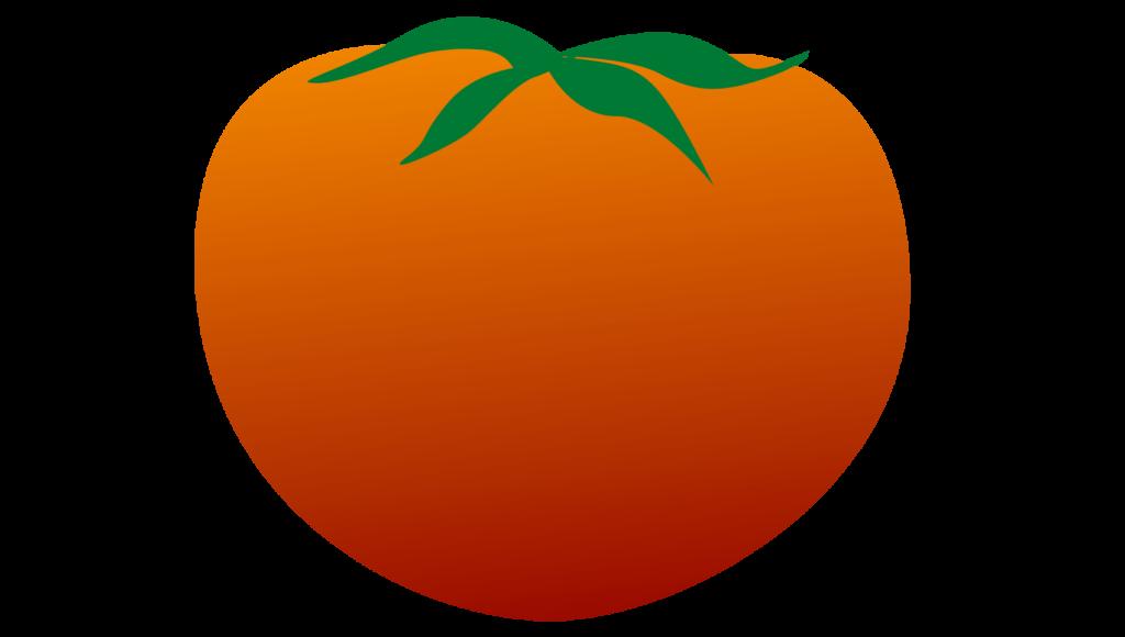 真っ赤に熟したホールトマトのイラスト