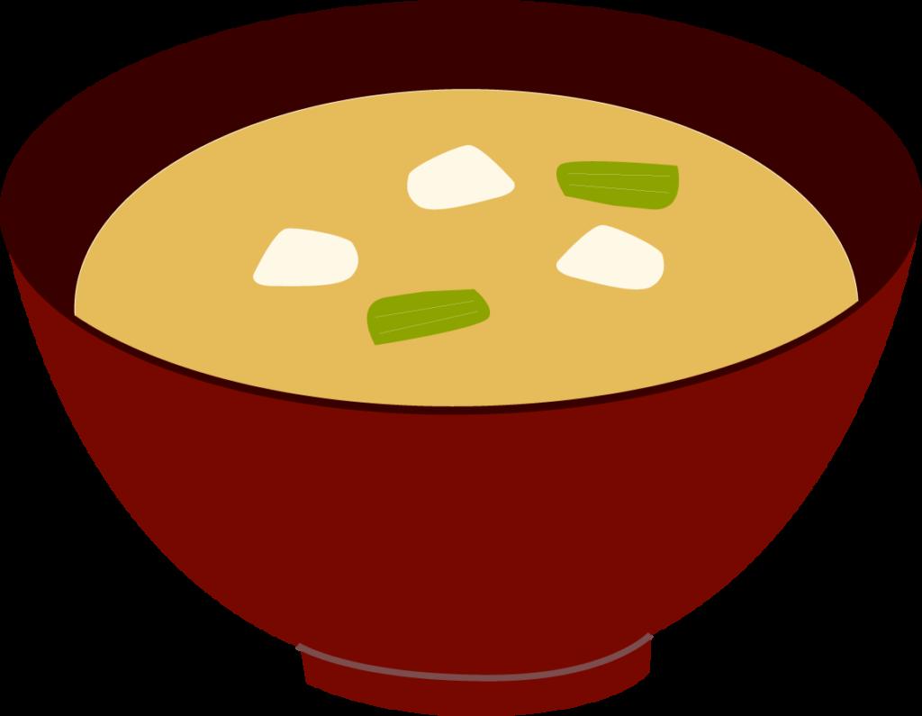 朝ごはんのお供に!お味噌汁のイラスト