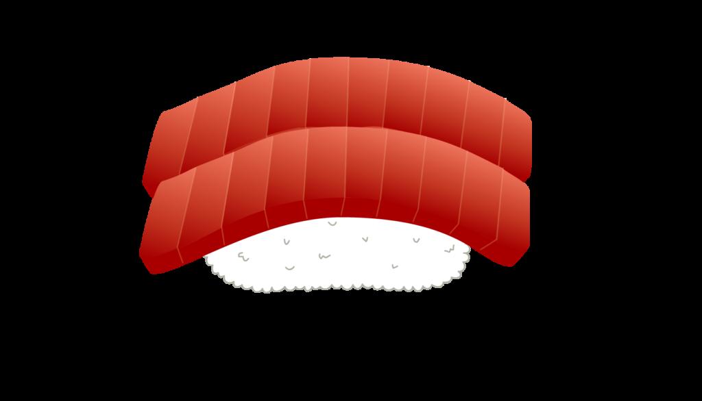 マグロを握ったお寿司のイラスト
