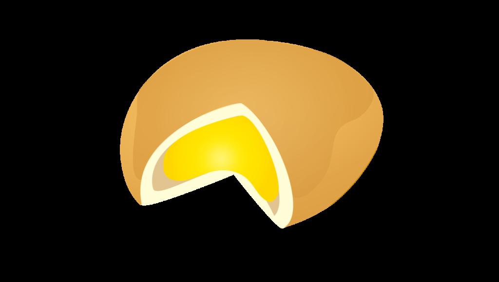 甘〜いクリームパンのイラスト