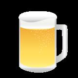 美味しそうなビールの無料イラスト