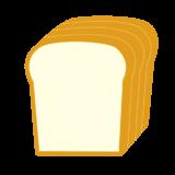 4枚切りの山食パンのイラスト