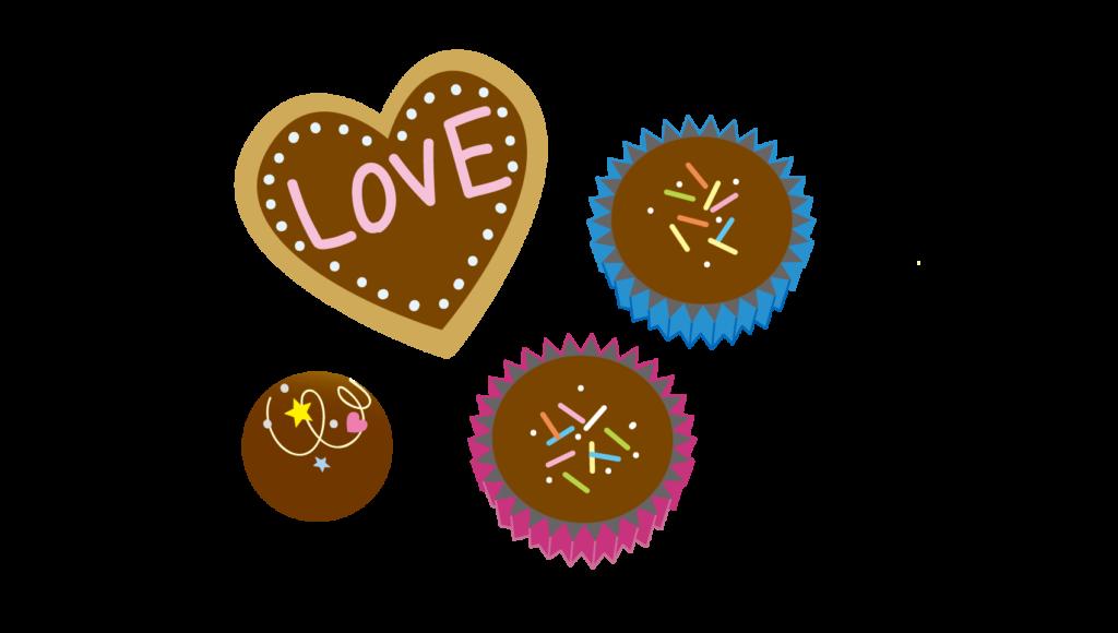 バレンタインの手作りチョコのイラスト