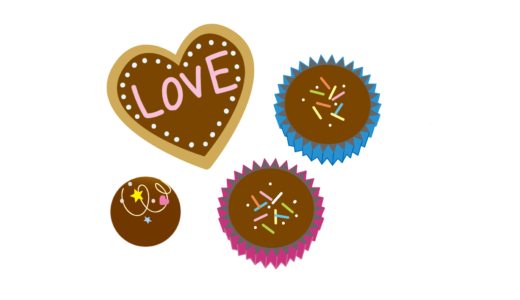 手作りチョコのイラスト