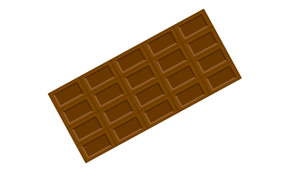 板チョコのイラスト