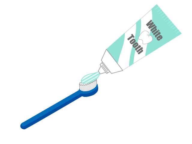 歯ブラシと歯磨き粉のイラスト イラスト本舗