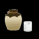 焼酎とグラスがセットになった無料イラスト