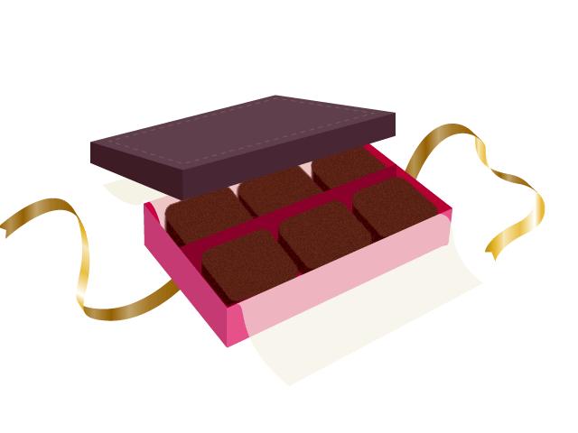 生チョコの無料イラスト