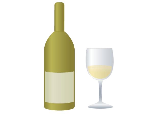 白ワインの無料イラスト