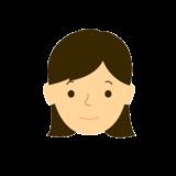 若い女性 普通の表情無料イラスト