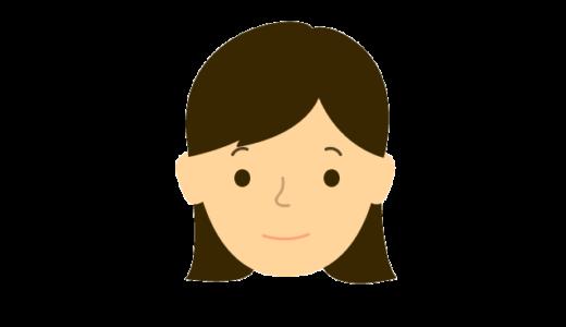 女性の表情(普通、怒る、悲しむ、困る、喜ぶ)のイラスト