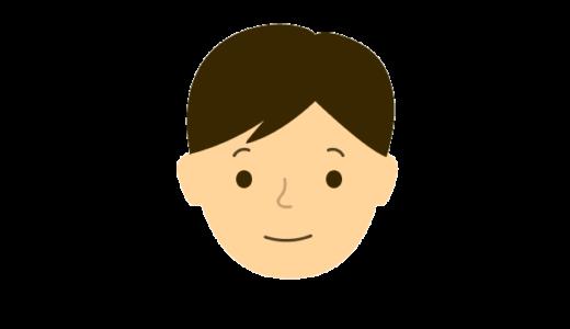 男性の表情(普通、怒る、困る、悲しむ、喜ぶ)のイラスト