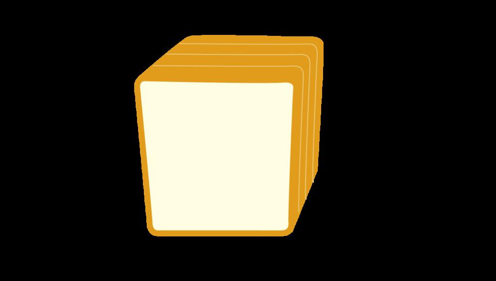 4枚切り角食パンのイラスト