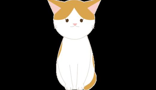 おすわりするネコのイラスト(カラー別に4種類)