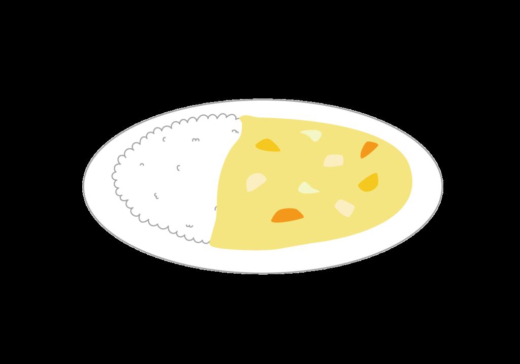 シチューにご飯をのせたシチューライスのイラスト