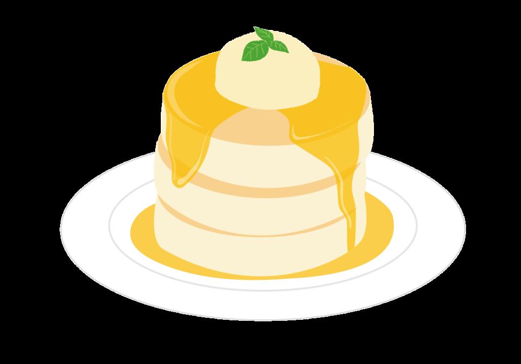 3段積みのパンケーキイラスト