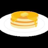 バターとはちみつをたっぷりかけたホットケーキのイラスト