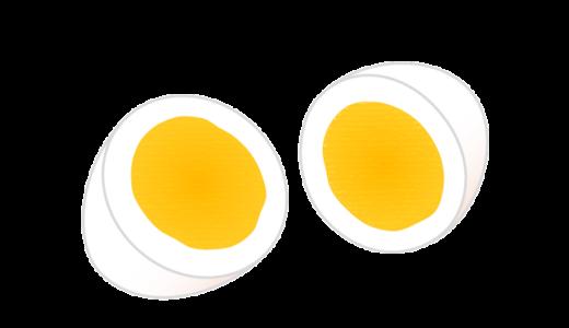 ゆで卵(固ゆで・半熟)のイラスト