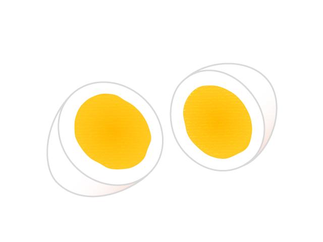ゆで卵のイラスト