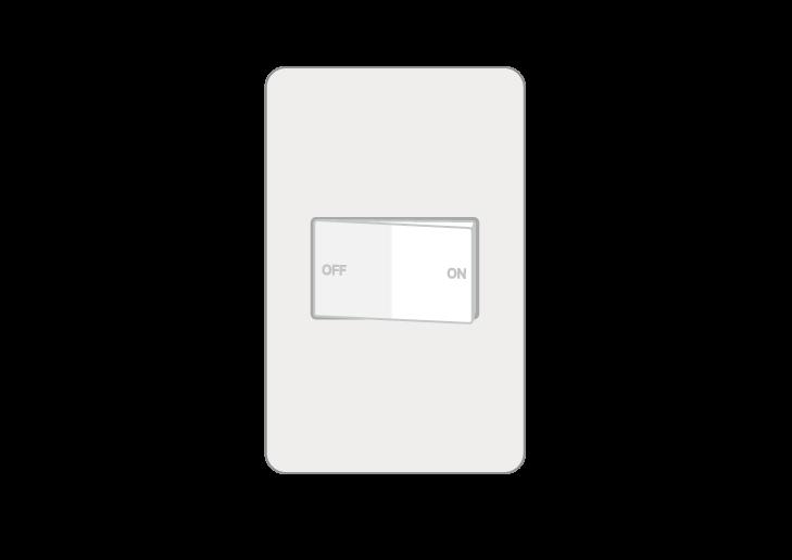 照明スイッチのイラスト