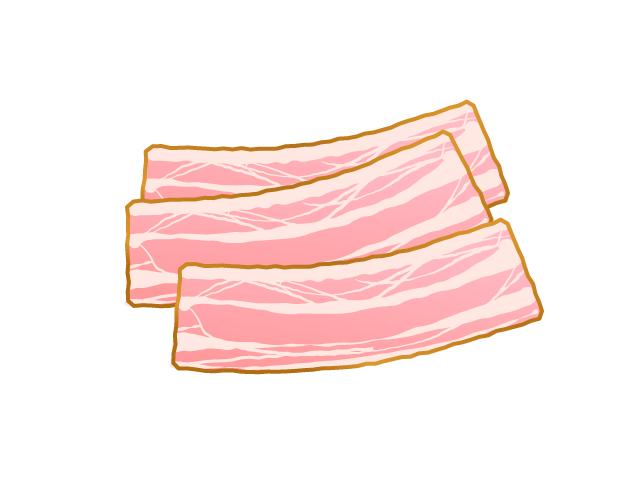 ベーコンのイラスト
