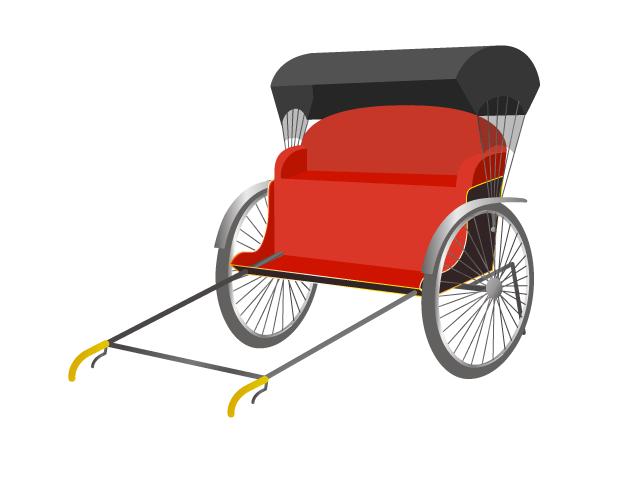 人力車のイラスト イラスト本舗