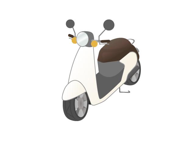 原付きバイクのイラスト