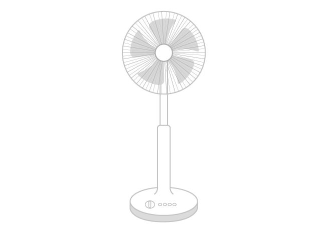 扇風機のイラスト イラスト本舗