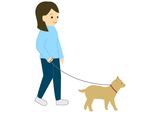 犬の散歩をしている人