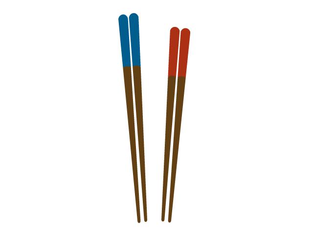 お箸2つイラスト