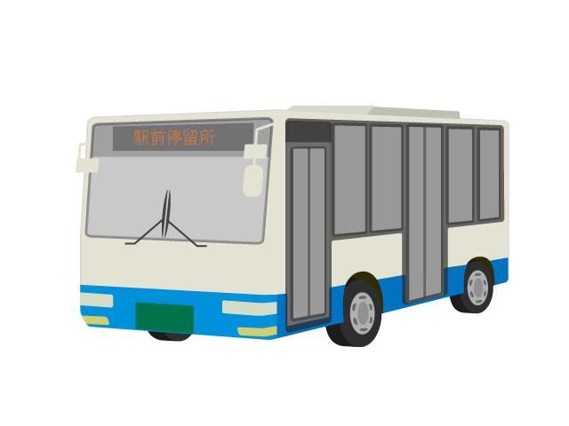 路線バスのイラスト