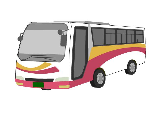 高速バスのイラスト イラスト本舗