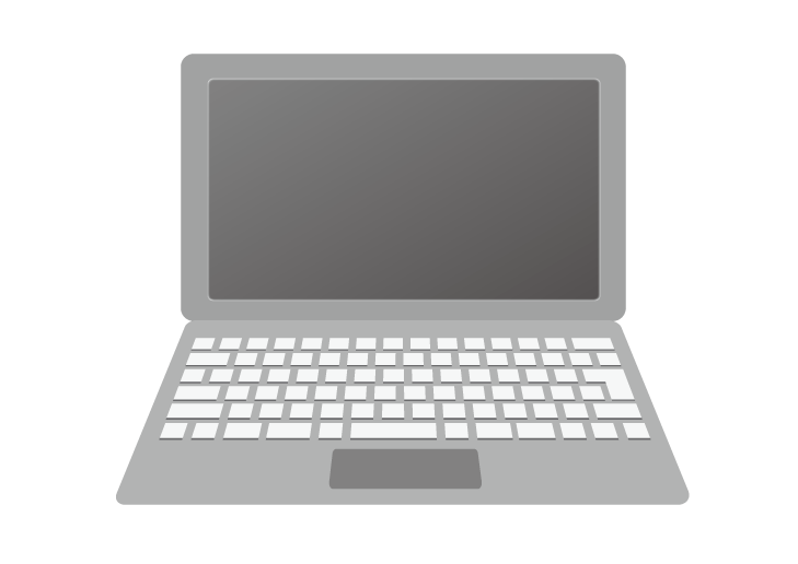 ノートパソコンのイラスト イラスト本舗