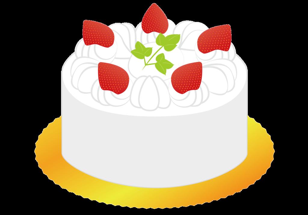 ホールケーキのイラスト