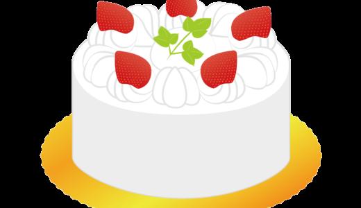ホールケーキ(チョコレート・バースデー)のイラスト