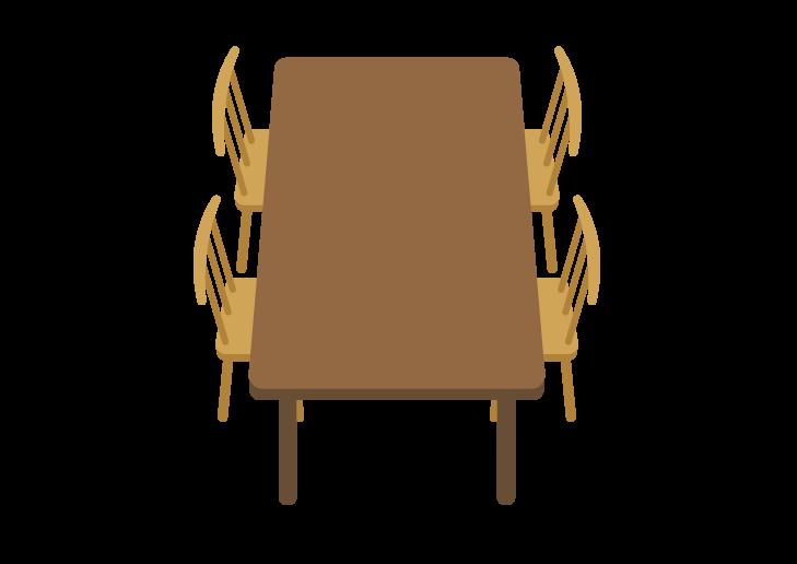 ダイニングテーブルのイラスト