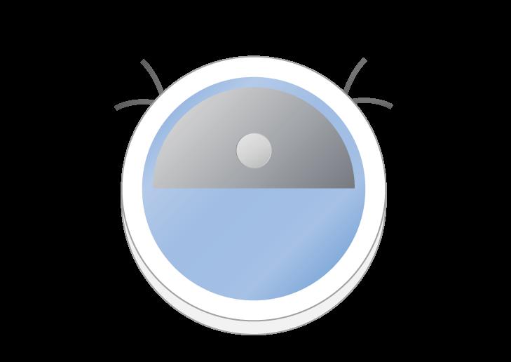 ロボット掃除機のイラスト