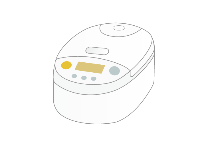 炊飯器のイラスト