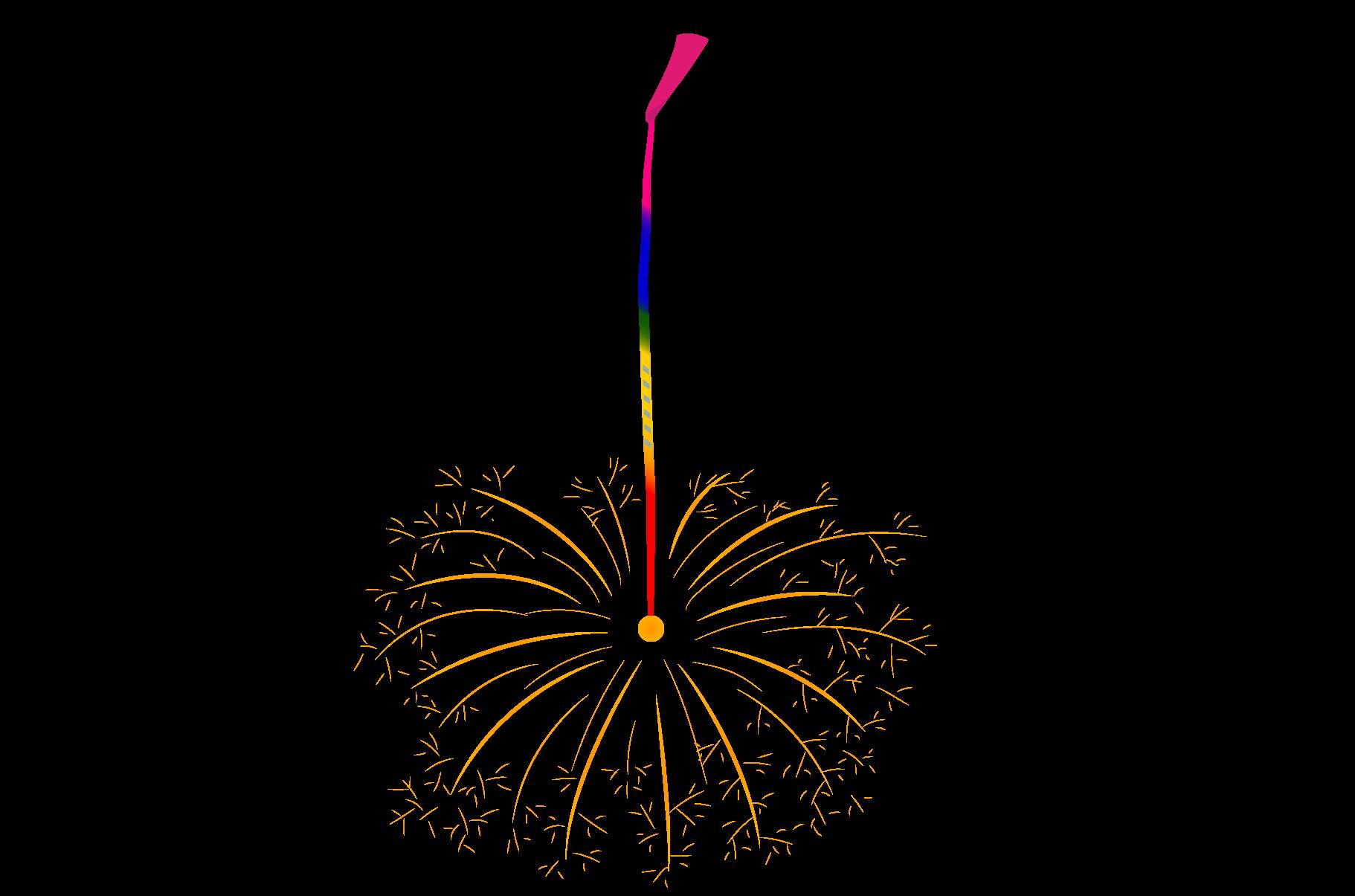 線香花火のイラスト | イラスト本舗