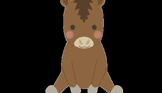 馬(ウマ)のイラスト