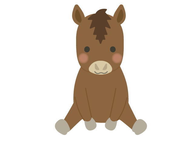 馬ウマのイラスト イラスト本舗
