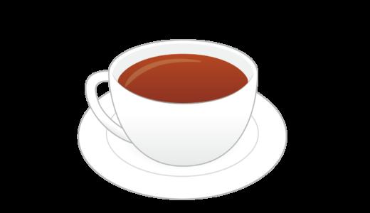ストレートティー(紅茶)のイラスト
