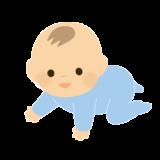 ハイハイしている赤ちゃん(男の子)のイラスト