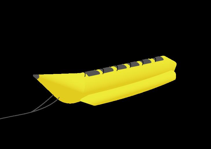 バナナボートのイラスト