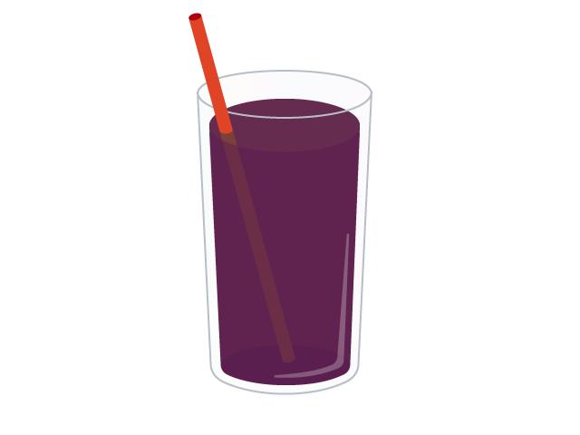 ぶどうジュースのイラスト