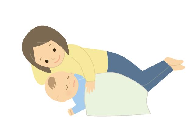 赤ちゃんを寝かしつけているママのイラスト イラスト本舗