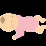 寝ている赤ちゃん(女の子)のイラスト