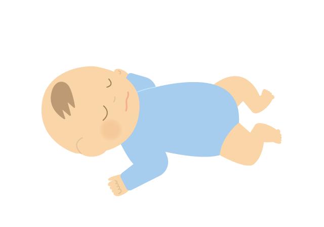 寝ている赤ちゃん(男の子)のイラスト