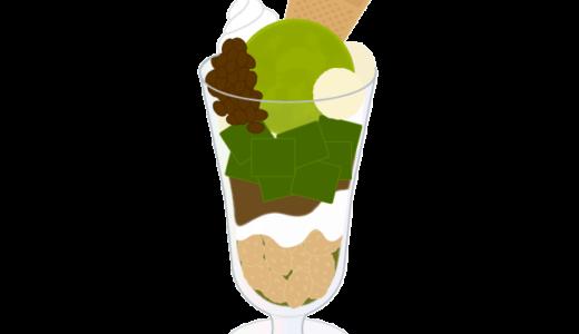 抹茶パフェのイラスト
