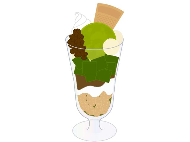 抹茶パフェのイラスト イラスト本舗